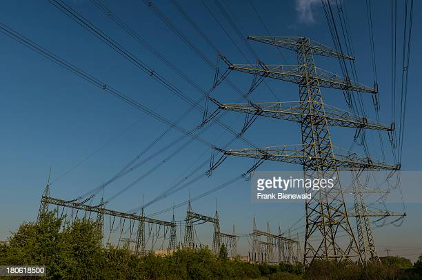 An electric power transformation substation