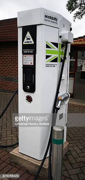 An electric vehicle charging station which supplies electric energy in order to recharge electric vehicles Dated 21st Century