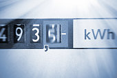 An electricity meter measures the current consumed - save symbolfoto for electricity price and electricity