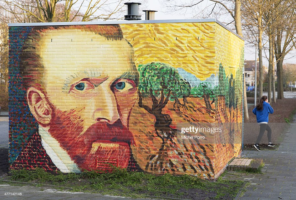 An electricity power substation is decorated with replica's of original paintings by Vincent Van Gogh on March 7, 2014 in Wassenaar, Netherlands. The Van Gogh Europe Foundation announced that in the year 2015 exhibitions will be organized to commemorate the 125th anniversary of his death.
