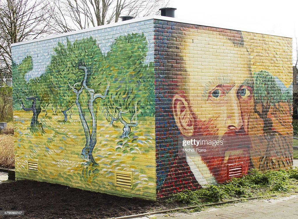 An electricity power substation is decorated with replica's of original paintings by Vincent Van Gogh on March 16, 2014 in Wassenaar, Netherlands. The Van Gogh Europe Foundation announced that in the year 2015 exhibitions will be organized to commemorate the 125th anniversary of his death.