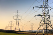 An electricity pylon of the National Grid in Wales