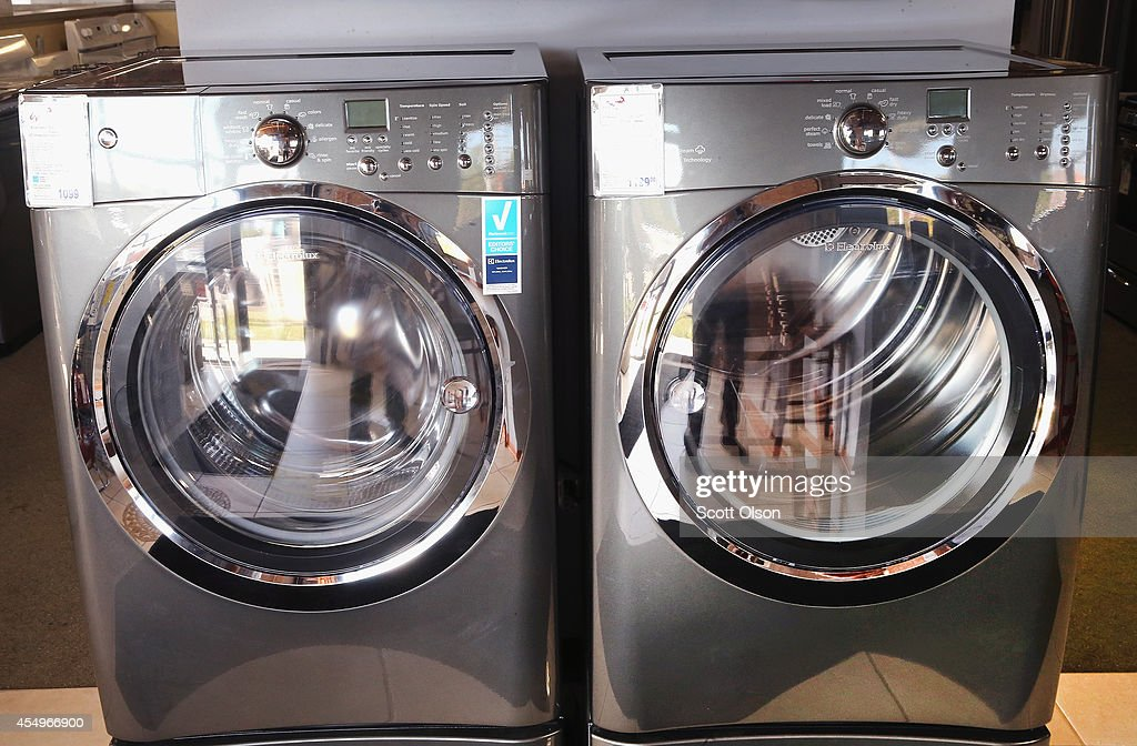 an electrolux washer and dryer are offered for sale at an appliance store on september 8