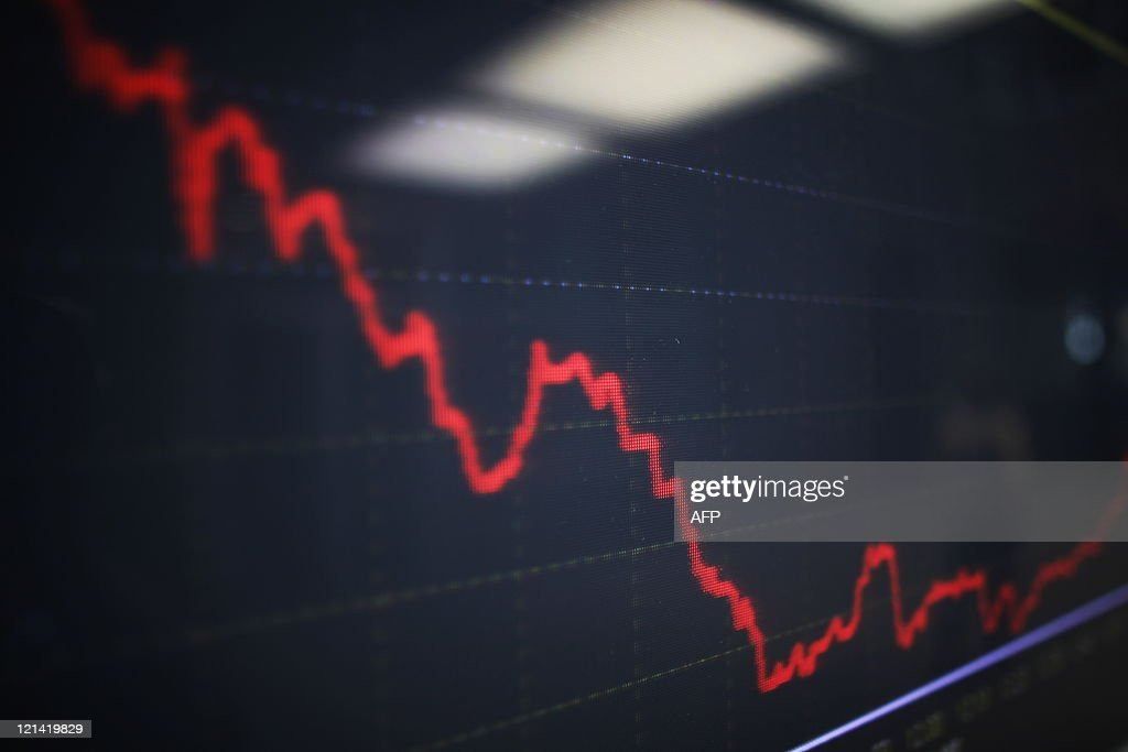 An electronic index panel on the main entrance hall of the Hellenic Exchanges on August 9 2011 European stock exchange markets gave signs of slight...
