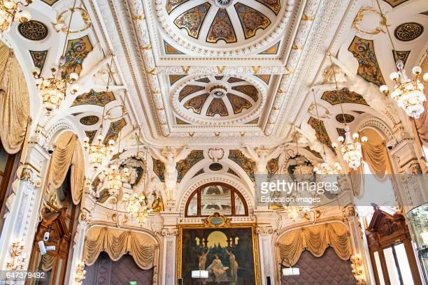 An Elegant Decorative Ceiling In Onte Carlo Casino Monaco