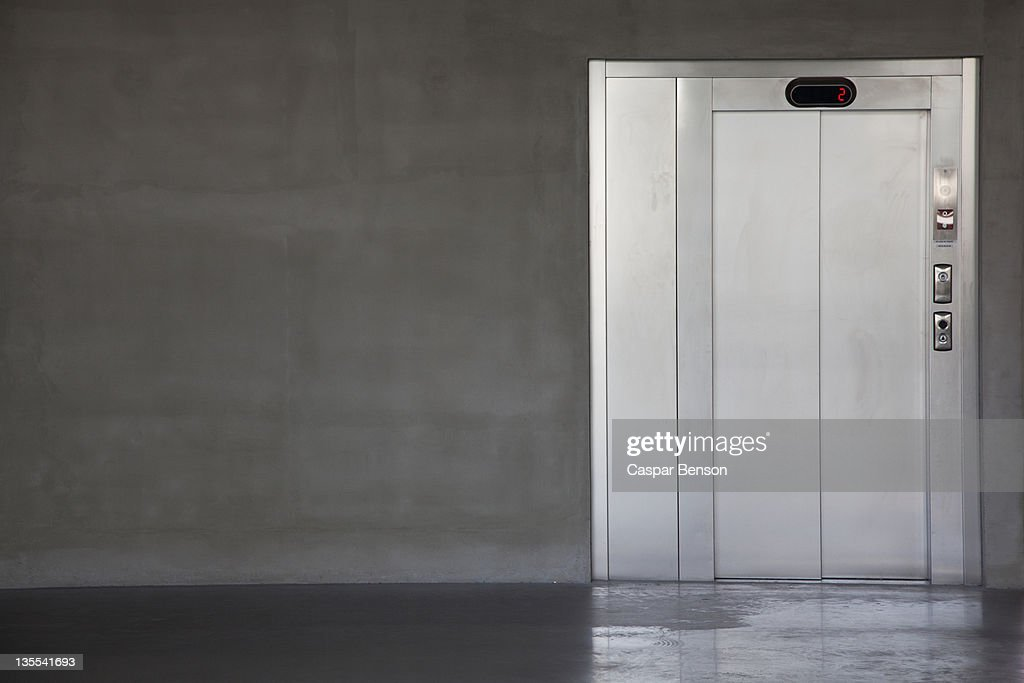 An elevator on the second floor