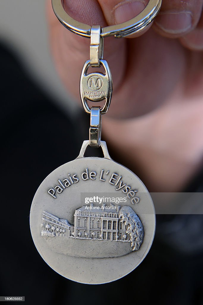 An Elysee Presidential Palace key holder is seen during the 30th edition of France's European heritage days on September 15, 2013 in Paris, France. Monuments and state buildings are opened for free for two days to the public.