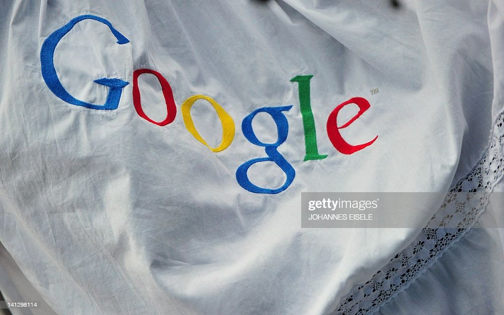 An embroided Google logo is pictured during a press conference on November 18, 2010 in Hamburg on the launch of Google's street info service 'Street View' from 20 German cities, among them Berlin, Frankfurt/M. and Munich. Street View, which allows users to 'walk' through towns and cities using photos taken by specially equipped vehicles, is already online in around 20 countries but ran into fevered opposition in Germany.