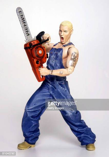 An Eminem Doll Featuring A Chain Saw Manufactured By Art Asylum Is Set To Be Released This Year The Lifelike Doll Has The Rapper's Tattoos Recreated...