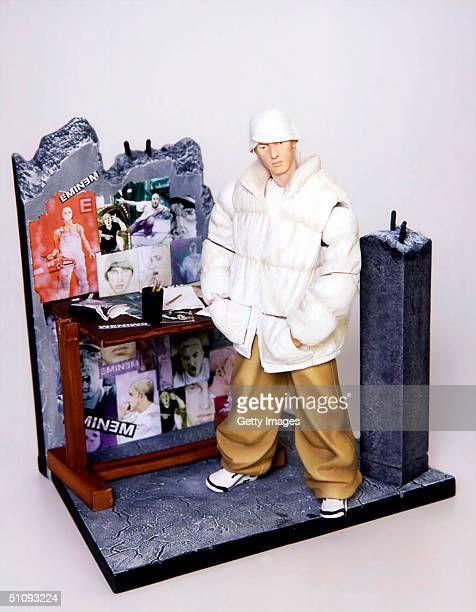An Eminem Doll Manufactured By Art Asylum To Be Released This Year Is On Display July 2 2001 The Doll Has The Rapper's Tattoos Recreated In Detail...