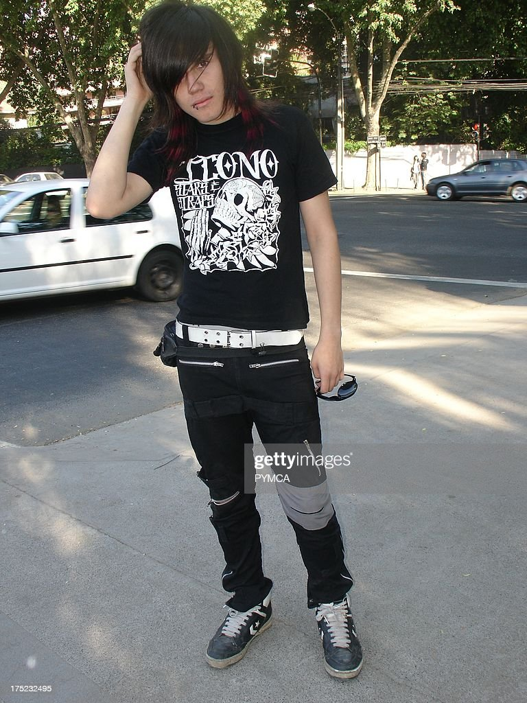 An Emo boy poses with his hand on his head Santiago Chile 2007. Pictures | Getty Images