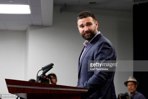 An emotional New England Patriots defensive end Rob Ninkovich thanks New England Patriots head coach Bill Belichick for his time at New England...