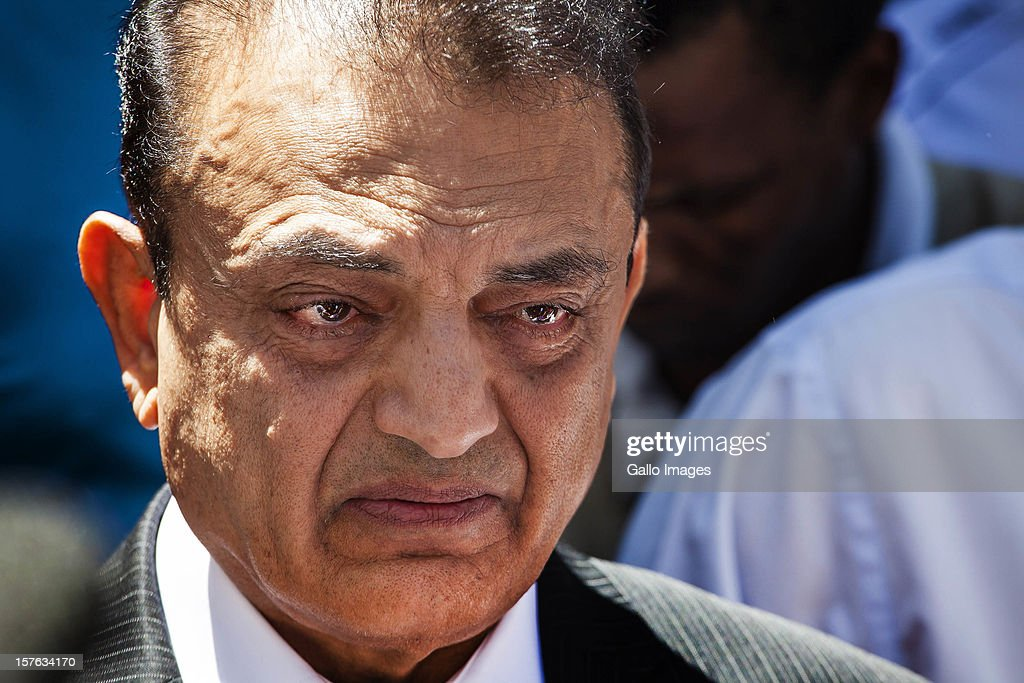 An emotional Vinod Hindocha, father of murdered Anni Dewani, ahead of the sentencing of Xolie Mngeni on December 5, 2012 in Cape Town, South Africa. Mngeni was sentenced to life in prison for the murder of Anni Dewani.