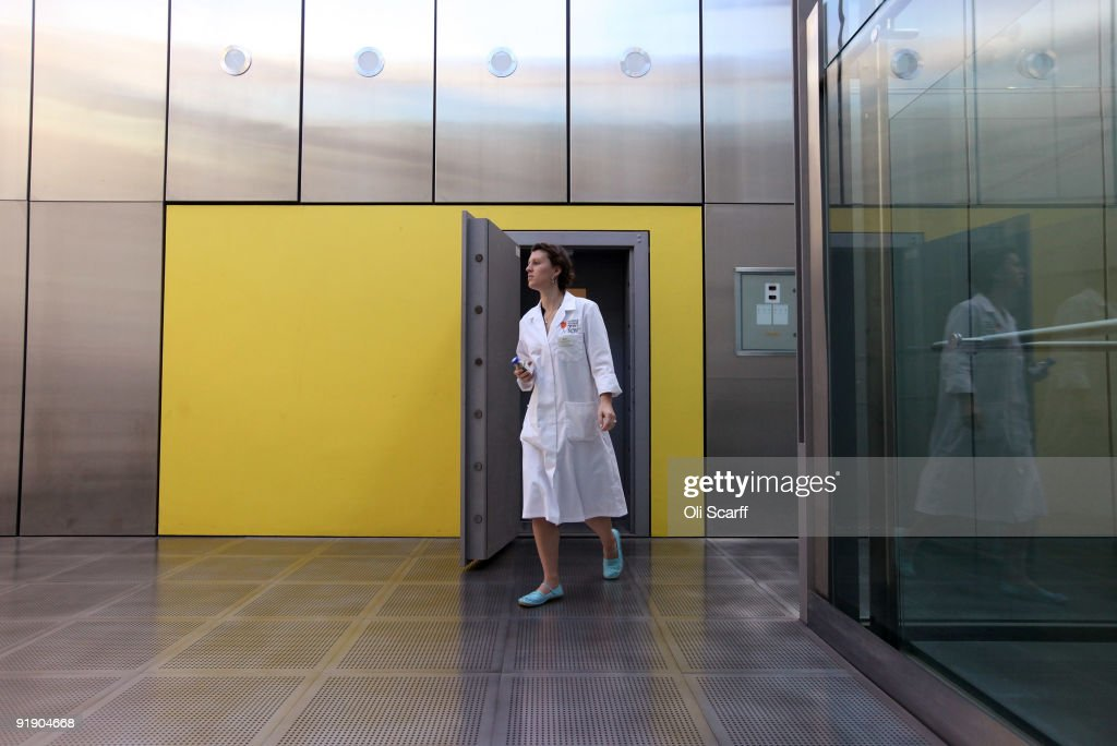 An employee at Kew's Millennium Seed Bank leaves the vault where seeds are stored at -20 degrees Celsius, which now holds 10 percent of the world's wild plant species, at Wakehurst Place on October 15, 2009 near Haywards Heath, Sussex, England. The 24,200th seed species is a pink, wild banana from China which is an important staple for wild Asian elephants. The seed bank intends to collect and store a quarter of the world's plant species by 2020 to support conservation and safeguard biodiversity. The bank is the largest wild seed bank in the world holding 3.5 billion seeds from around the world in its vaults, storing them at -20 degrees Celsius to preserve them for hundreds of years.