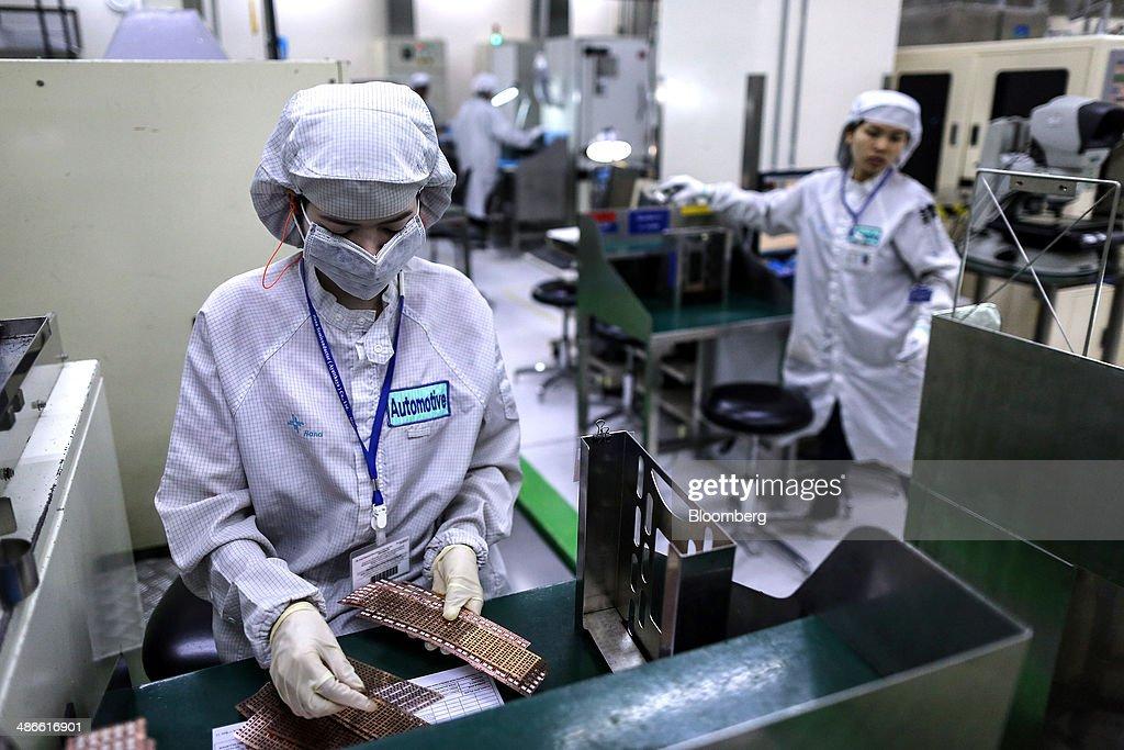 Production Inside A Hana Microelectronics Plant Ahead Of