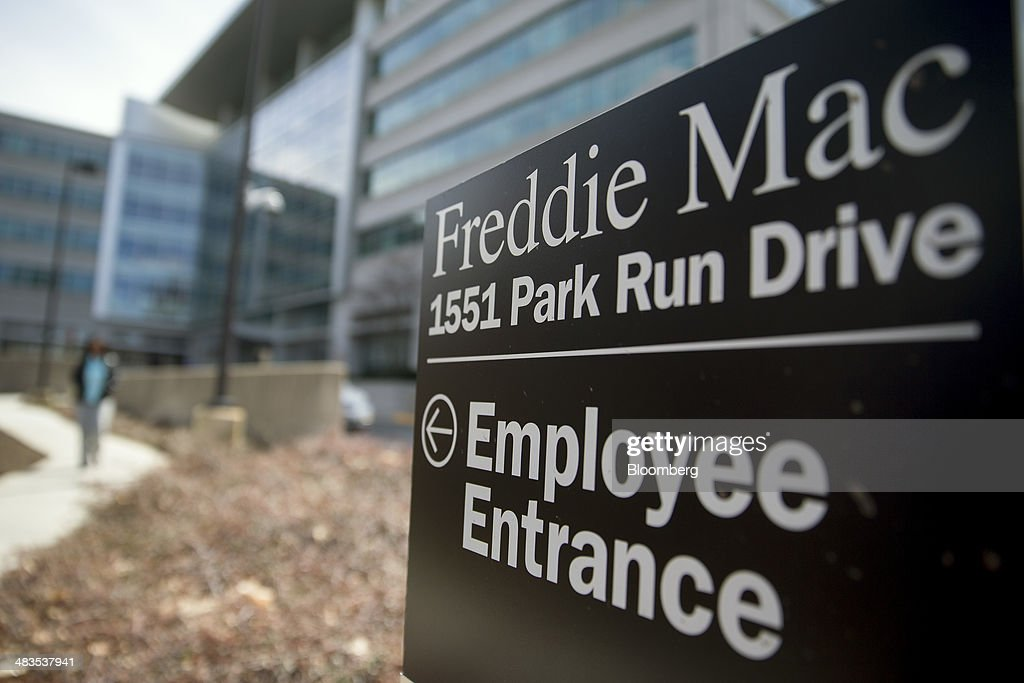 An employee entrance sign stands outside Freddie Mac headquarters in McLean Virginia US on Tuesday April 8 2014 Senator Sherrod Brown an Ohio...