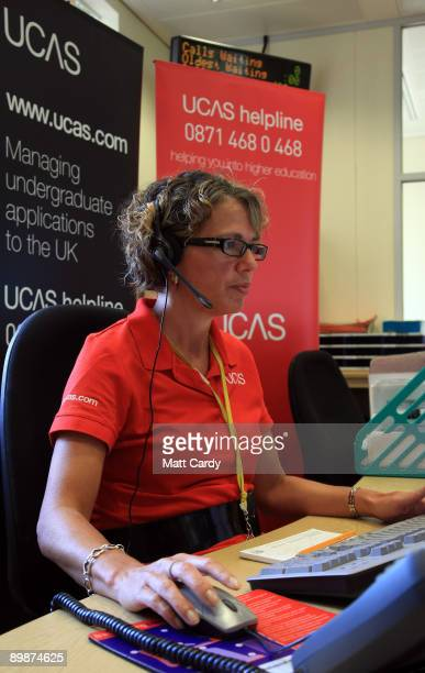 An employee in the Ucas clearing house call centre answers enquiries as she prepares to assist Alevel students ahead of results day on August 19 2009...