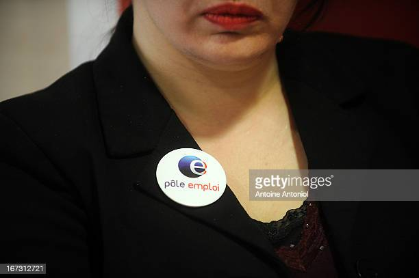 An employee is seen at a Pole Emploi unemployment office on April 24 2013 in Vincennes France French unemployment keeps rising and the number of...