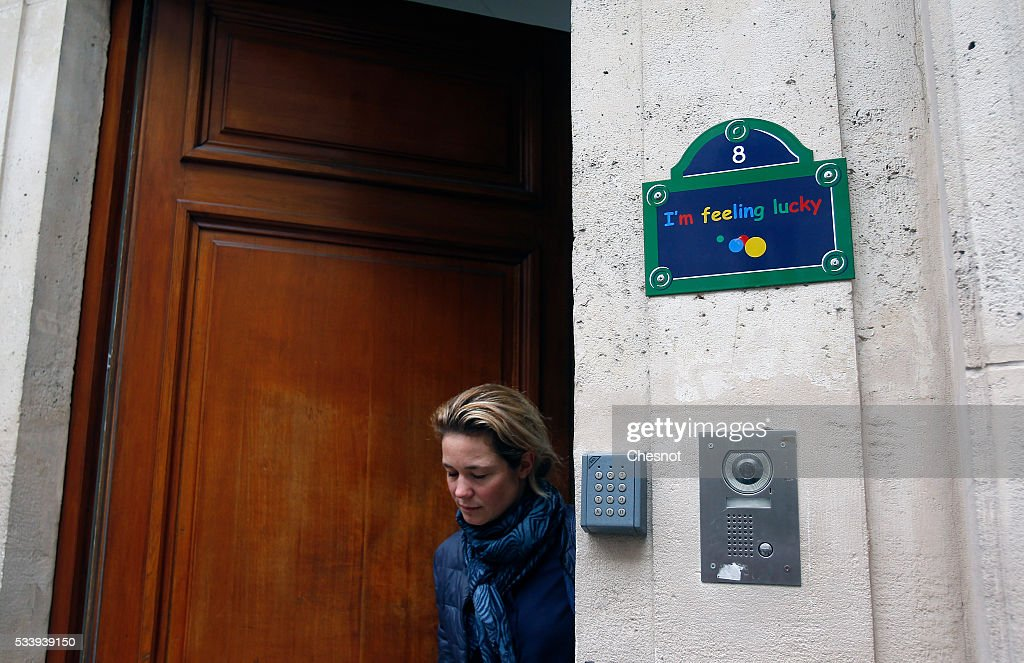 An employee leaves the Google's Paris headquarters on May 24, 2016 in Paris, France. Google's headquarters in Paris were raided by French investigators on Tuesday morning as part of an investigation over alleged tax fraud. Ministry of Finance is seeking 1.6 billion euros ($1.79 billion) in back taxes from the U.S. Internet giant Google.