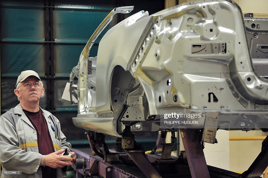 An employee of French carmaker Renault l