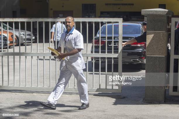 An employee of the Forensic Department of the Kuala Lumpur Hospital exits the building on February15 2017 45yearold Kim Jongnam was assassinated at...