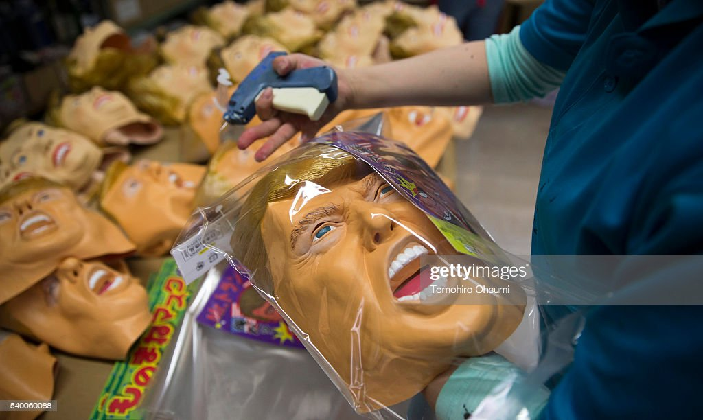 Rubber Masks Of Hilary Clinton And Donald Trump