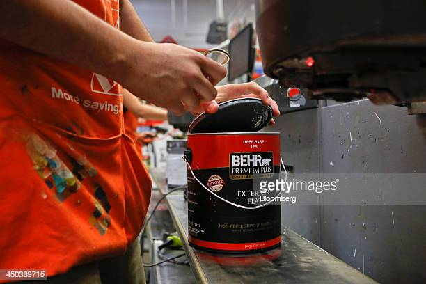 An employee prepares a customer paint order at a Home Depot Inc store in Torrance California US on Friday Nov 15 2013 Home Depot Inc is scheduled to...