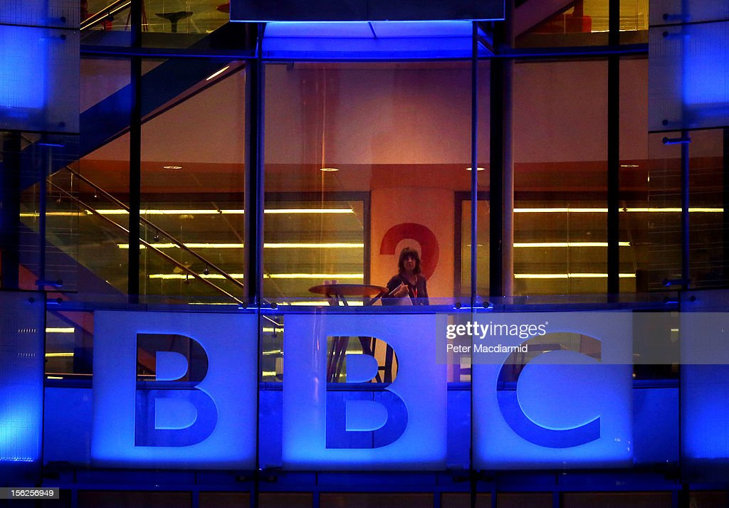 An employee walks inside BBC headquarters at New Broadcasting House on November 12 2012 in London England Tim Davie has been appointed the acting...
