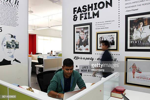 An employee works at a desk in the office of Myntracom a unit of Flipkart Internet Services Pvt in Bangaluru India on Friday Dec 04 2015 Discounts...