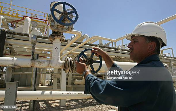 An employee works at the Tawke oil field near the town of Zacho on May 31 2009 in Dohuk province about 250 miles north of Baghdad Iraq The Iraqi...