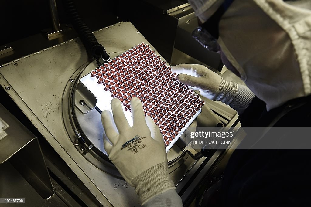 BALMER An employee works in an unit dedicated to the production of insulin pens at the factory of the US pharmaceutical company Eli Lilly in...