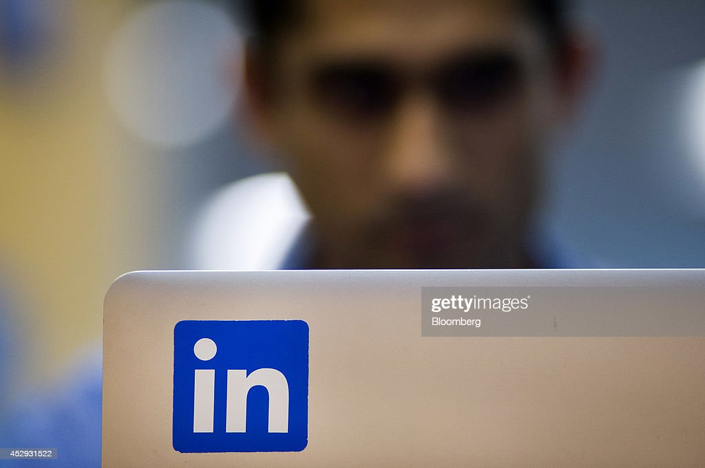 An employee works on a laptop computer at LinkedIn Corp. headquarters in Mountain View, California, U.S., on Monday, July 28, 2014. LinkedIn Corp. is scheduled to release earnings figures on July 31. Photographer: David Paul Morris/Bloomberg via Getty Images
