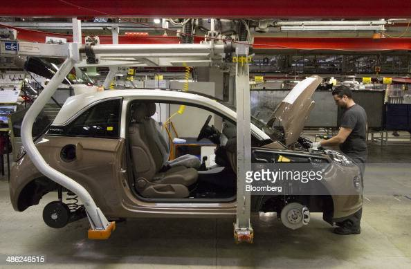 manufacturing operations at general motors co adam opel ag plant photos and images getty images. Black Bedroom Furniture Sets. Home Design Ideas