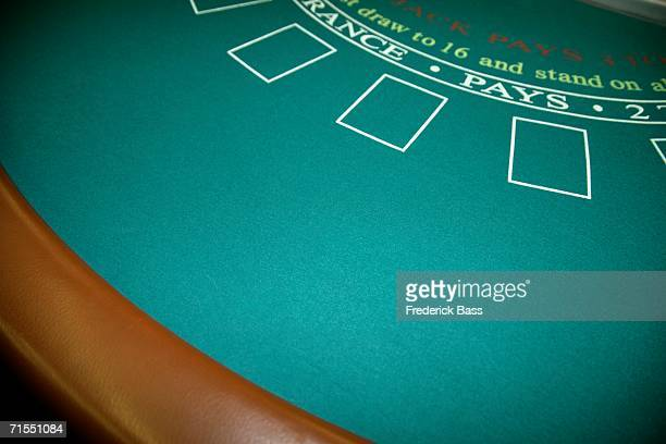 An empty blackjack table
