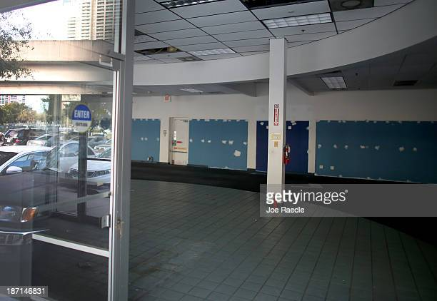 An empty Blockbuster video store is seen on November 6 2013 in Miami Florida Blockbuster announced today that it will close its 300 remaining US...