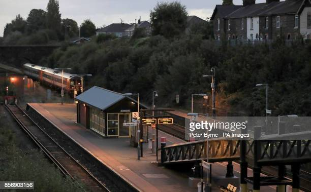An empty Hunts Cross station in Liverpool as rail guards take strike action Members of the RMT union are staging a 24hour strike as workers on...