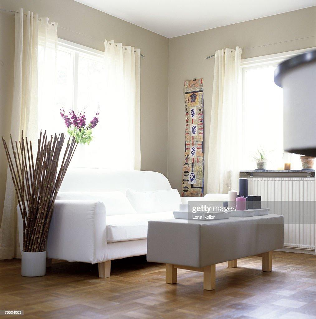 Empty Living Room: An Empty Living Room Stock Photo