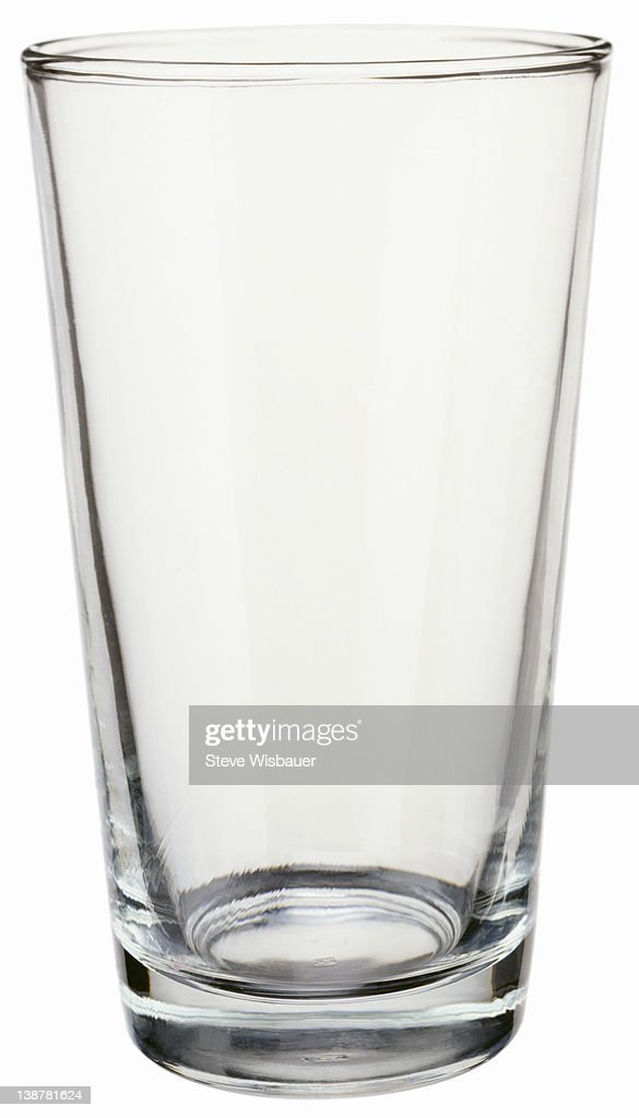 An empty pint drinking glass : Stock Photo