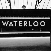 An empty platform at Waterloo East railway station after all trains going to London Bridge are cancelled due to derailment London 12th August 1958