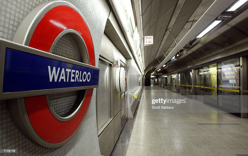 An empty platform is shown July 17 2002 at Waterloo Underground Station in London England London Underground warned its three million passengers...