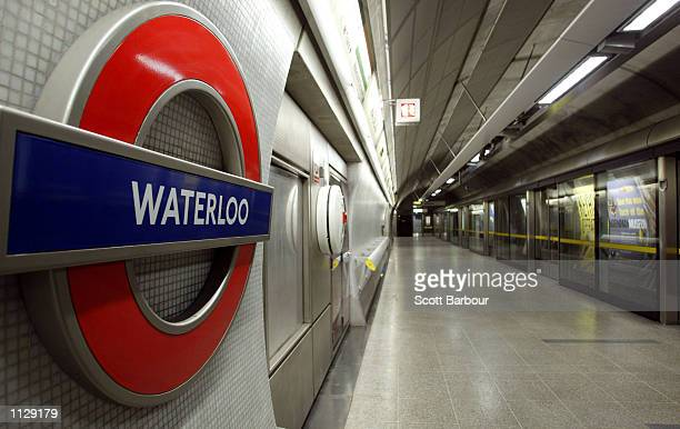 An empty platform is shown July 17 2002 at Waterloo Underground Station in London England London Underground warned its three million passengers...