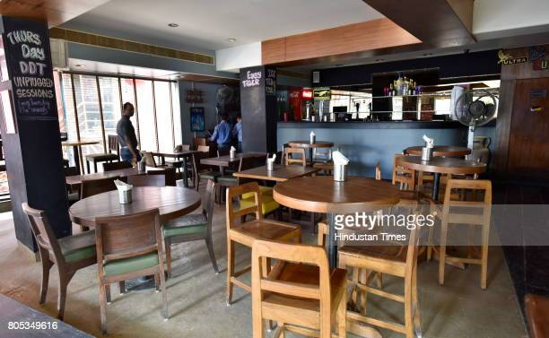 An empty pub after they stopped serving liquor as per the Supreme court guideline at Church street on July 1 2017 in Bengaluru India Liquors cant be...