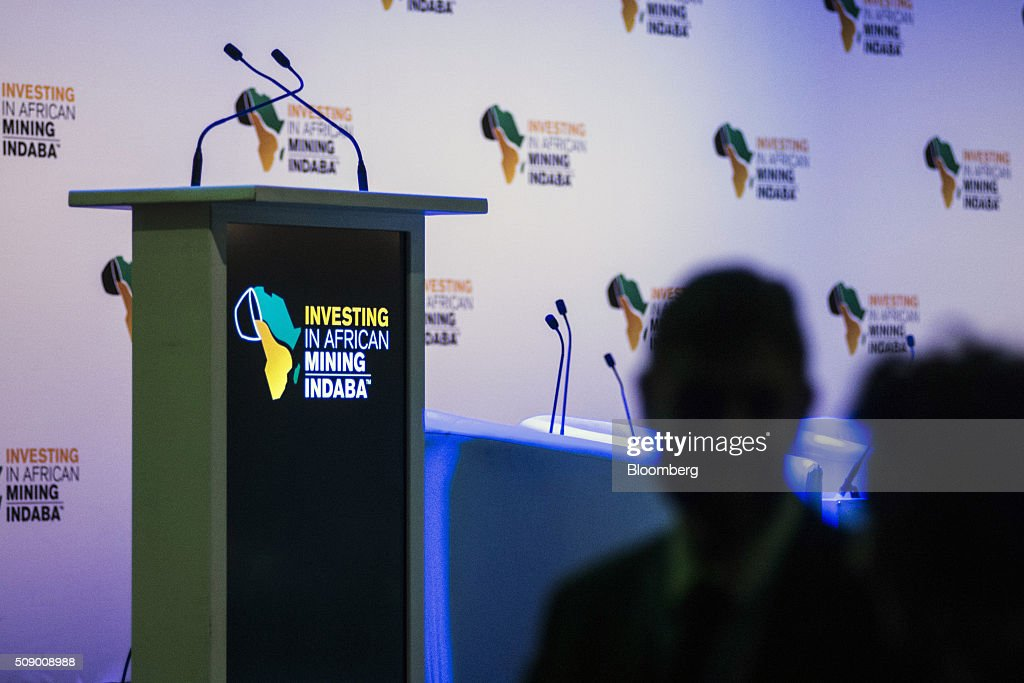 An empty speaker's podium stands in an auditorium before a session on the opening day of the Investing in African Mining Indaba in Cape Town, South Africa, on Monday, Feb. 8, 2016. With many miners battling to stay afloat, fewer are willing to shell out 1,140 pounds ($1,641) for the Investing in African Mining Indaba conference in South Africa and business-class airfare. Photographer: Waldo Swiegers/Bloomberg via Getty Images