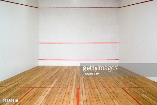 An empty squash court