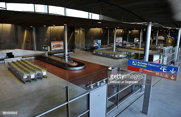 An empty terminal is seen at the CharlesdeGaulle at Airport Roissy Charles de Gaulle on April 16 2010 in Paris France Roissy CharlesdeGaulle airport...