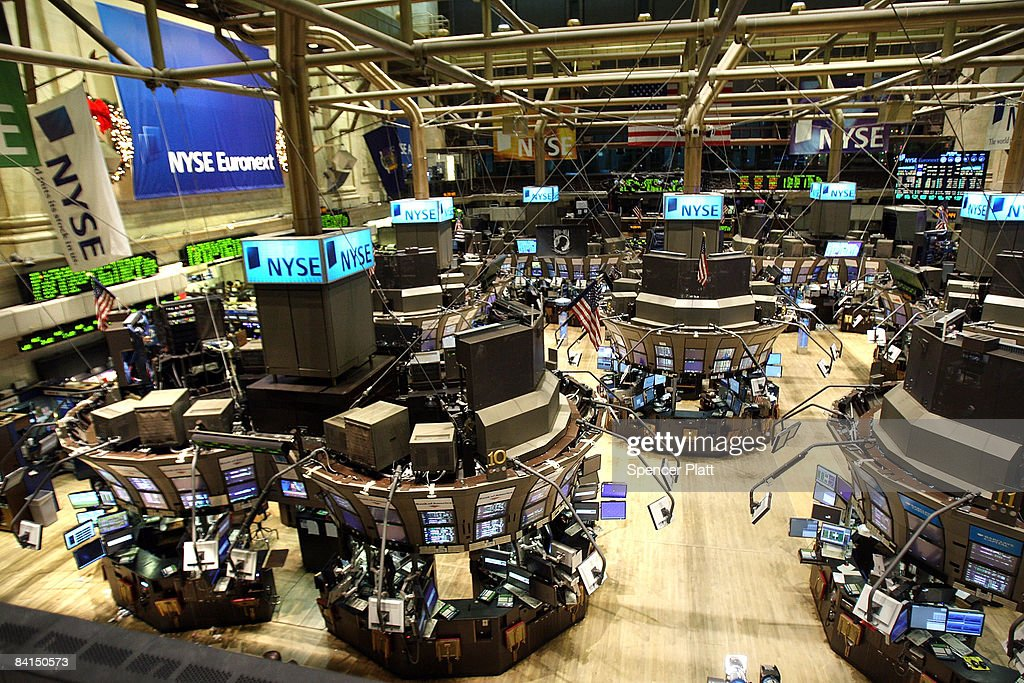 An empty trading floor at the New York Stock Exchange (NYSE) December 31, 2008 in New York City. Wednesday is the last day of trading on the exchange in what has been one of the most tumultuous years in finance in the nation's history.