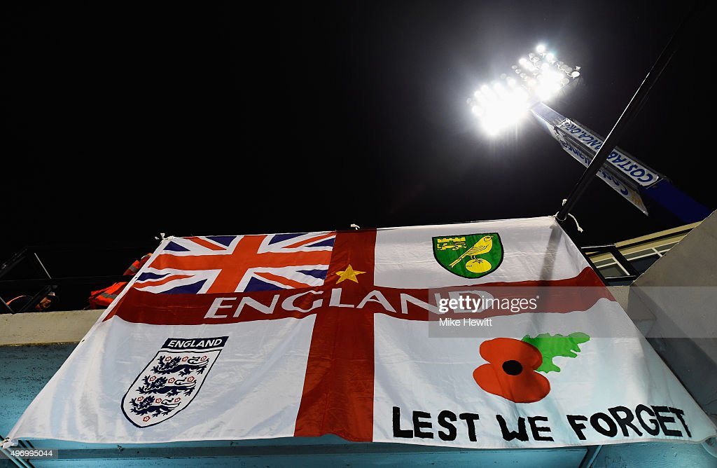 An England flag on display prior to the international friendly match between Spain and England at Jose Rico Perez Stadium on November 13, 2015 in Alicante, Spain.