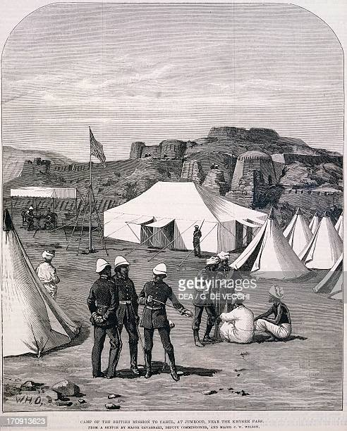 An English encampment in Afghanistan release AngloAfghan War Afghanistan 19th century