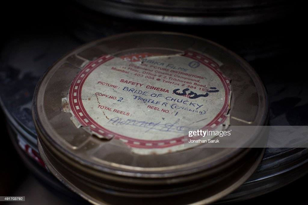An English language film reel is stored near the projection room at Ariana Cinema June 4, 2011 in Kabul, Afghanistan. Going to the movies, once banned under the Taliban, has become a popular form of entertainment in Kabul, but women and children rarely take part.