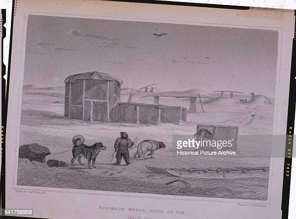 'An engraving after an original drawing made by Captain George Francis Lyon during William Edward Parry's second exploration for a Northwest Passage...